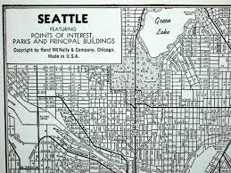 Map Of Seattle Vintage Map Of Seattle Washington 1942 Seattle Map Black