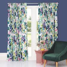 Curtains Printed Designs Printed Curtains Contemporary Floral Designs Bluebellgray