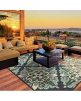 great deals on medallion outdoor rug gray white 8 u00276