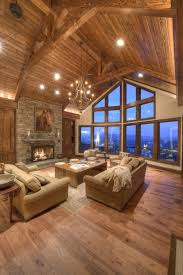 timber frame great room lighting douglas fir timber frame king post trusses in mountain great room