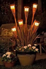 Tiki Patio Lights Diy Rattan Tiki Torch Outdoor Patio Lights Superb Diy Outdoor
