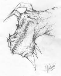 dragon sketch by alessandelpho on deviantart