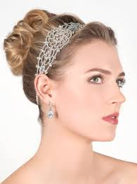 gatsby headband silver rhinestone gatsby inspired bridal