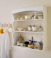 Simple Wall Shelves Design Accessories Good Free Standing White Wooden Three Shelves Ideas