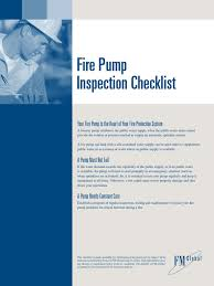 Insurance Home Inspection Checklist by Fm Fire Pump Inspection Checklist And Form Internal Combustion