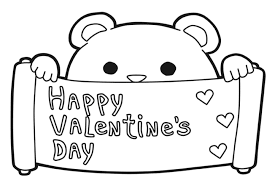 cute bear valentines coloring pages valentine coloring pages of