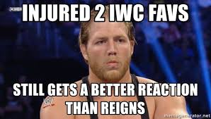 Swagger Meme - injured 2 iwc favs still gets a better reaction than reigns jack
