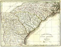 Map South Carolina Coast Map Of North And South Carolina North Carolina Road Vintage