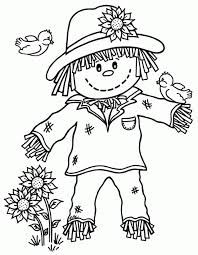 scarecrow pictures to print fall kids coloring pages coloring