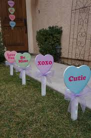 day decor s day conversation candy heart yard decor by