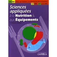 sciences appliqu s cap cuisine sciences appliquées à la nutrition et aux equipements cap métiers de