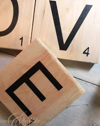 how to make love scrabble pieces