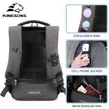 Kansas Mens Travel Bag images Kingsons 13 15 usb charging backapcks school backpack bag laptop jpg