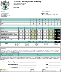 high school student report card template high school student report card template unique ash tree learning center academy report card template of high school student report card template jpg