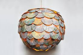 home decor made from recycled materials beautiful artichoke shaped pendant ls made from recycled novels