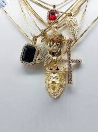 gem key necklace images 14k gold plated 7 chain combo iced out ruby iced out black gem jpg