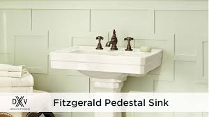 24 inch pedestal sink fitzgerald 24 inch pedestal sink by dxv youtube