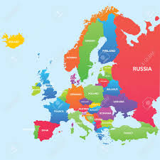 Map Of Eastern European Countries World Map Countries Royalty Free Cliparts Vectors And Stock