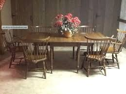 pennsylvania house early american dining table with 6 windsor