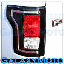 2015 ford f150 tail lights 15 17 ford f150 truck gloss black plated taillight tail light trim