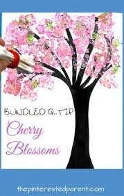 easy bundled q tip sted cherry blossom tree paintings