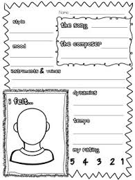 primary music listening worksheet could use something like this