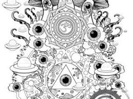 trippy mushroom coloring pages 201 best colouringmushrooms