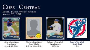 cubs minor league player of the week awards cubs central