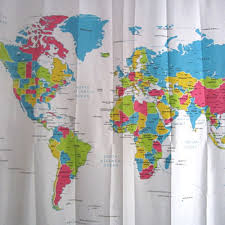 Shower Curtain Map World Map Shower Curtain Fabric U2022 Shower Curtain Ideas