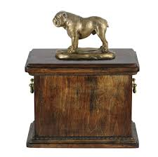 memorial urns solid wood casket bulldog memorial urn for dog s ashes with