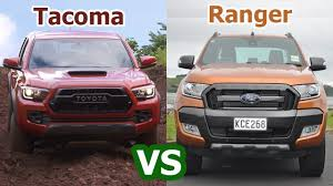 ranger ford 2018 2018 toyota tacoma vs 2018 ford ranger pickup auto comparison