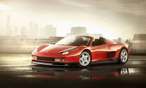 retro ferrari ferrari 458 spider with testarossa genes would be perfect in miami