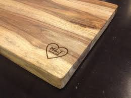 personalized engraved cutting board engraved names cutting board duel design shop