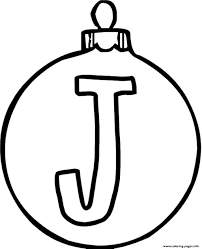 ornament j alphabet 1c16 coloring pages printable