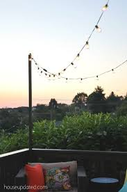 how to hang lights on house how to make a pole to add string lights to the deck back yard