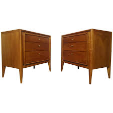 Metal Nightstands With Drawers Furniture Double Brown Polished Wooden Small Night Stands With