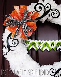 Halloween Wreath Tutorial by Tissue Paper Pom Pom Halloween Wreath Tutorial Positively
