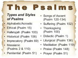 the psalms types and styles of psalms songs of ascent psalm ppt