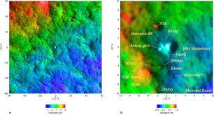 Arizona Elevation Map by Hirise Hirise Images Mars Pathfinder Site Psp 001890 1995