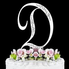gold letter cake topper gold sparkle monogram initial cake toppers with swarovski