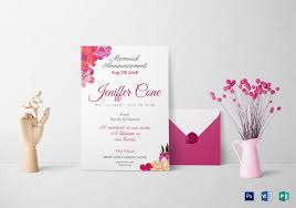 funeral invitation funeral invitation design template in word psd publisher