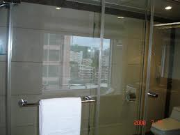 Shower and toilet notice the glass no privacy  Picture of Rio