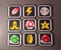 mario kart magnets super nintendo retro pixel art video