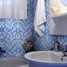 Resin Backsplash - blue ice cracked shell mosaic tile home floor resin walltile