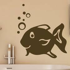 happy fish blowing bubbles bathroom wall sticker world of wall happy fish blowing bubbles bathroom wall sticker world of wall stickers