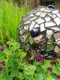 Gazing Globes Creating A Garden Mosaic Could It Be Knitting For Gardeners And A