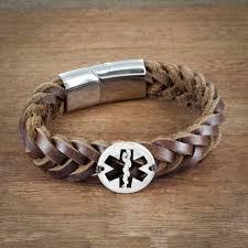 leather star bracelet images Star of life leather bracelet nurse or doctor bracelet medical jpg
