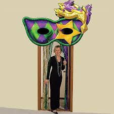 mardi gras door decorations mystique mardi gras door entrance stumps