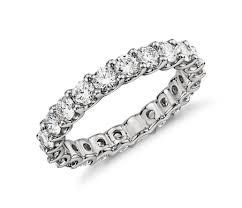 eternity ring diamond eternity ring in platinum 2 ct tw blue nile