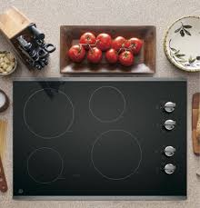 30 Electric Cooktops Ge Jp3030sjss 30 Inch Smoothtop Electric Cooktop With 4 Radiant